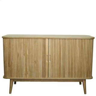 Madison Low Cabinet w/ 2 Drawers , Brushed Smoke