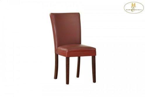 Side Chair, Lava-Red Bi-Cast Vinyl