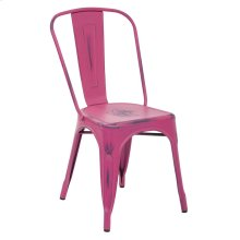 Bristow Armless Chair,antique Pink, 2 Pack