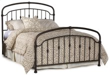 Pearson King Bed Set In Oiled Bronze Metal