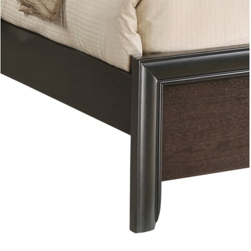 Emerald Home Prelude King Panel Bed Kit Honey Black/brown B588-12-k