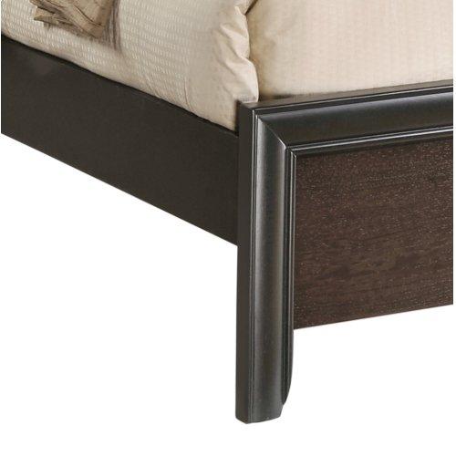 Emerald Home Prelude Queen Panel Bed Kit Honey Black/brown B588-10-k