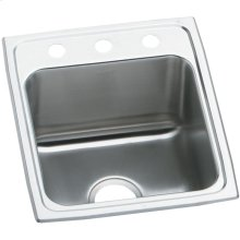 "Elkay Lustertone Classic Stainless Steel 17"" x 20"" x 10-1/8"", Single Bowl Drop-in Sink"