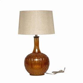 Lila Glass Lamp w/Shade