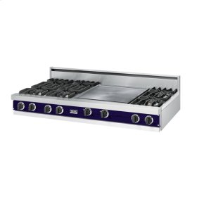 "Cobalt Blue 60"" Open Burner Rangetop - VGRT (60"" wide, six burners 24"" griddle/simmer plate)"