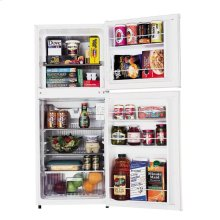 Frost-Free Two-Door Apartment-Size Refrigerator with Crisper