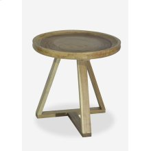 Linkwood Side Table with triangle metal base