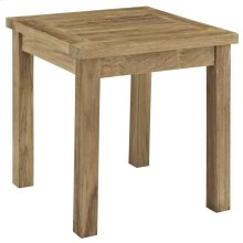 Marina Outdoor Patio Teak Side Table in Natural