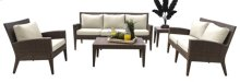 Oasis 5 PC Seating Set w/off-white cushions