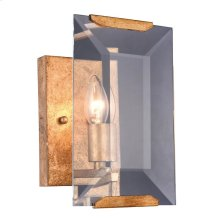 "Monaco Collection Wall Sconce W:6"" H:10"" E:7"" Lt:1 Golden Iron Finish Glass Crystal (Clear)"