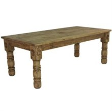 """84"""" x 39"""" x 30"""" Wood Top Dining Tables with Star"""