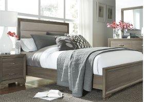 King Uph Bed, Dresser & Mirror, N/S