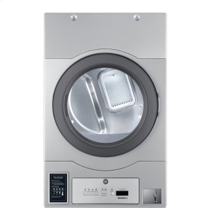 "CROSSOVER 2.0Crossover True Commercial Laundry - 7.0 CF Heavy Duty Bottom Control Electric Dryer, Coin Option Included/Card Ready, Silver, 27"" (Stacked application)"