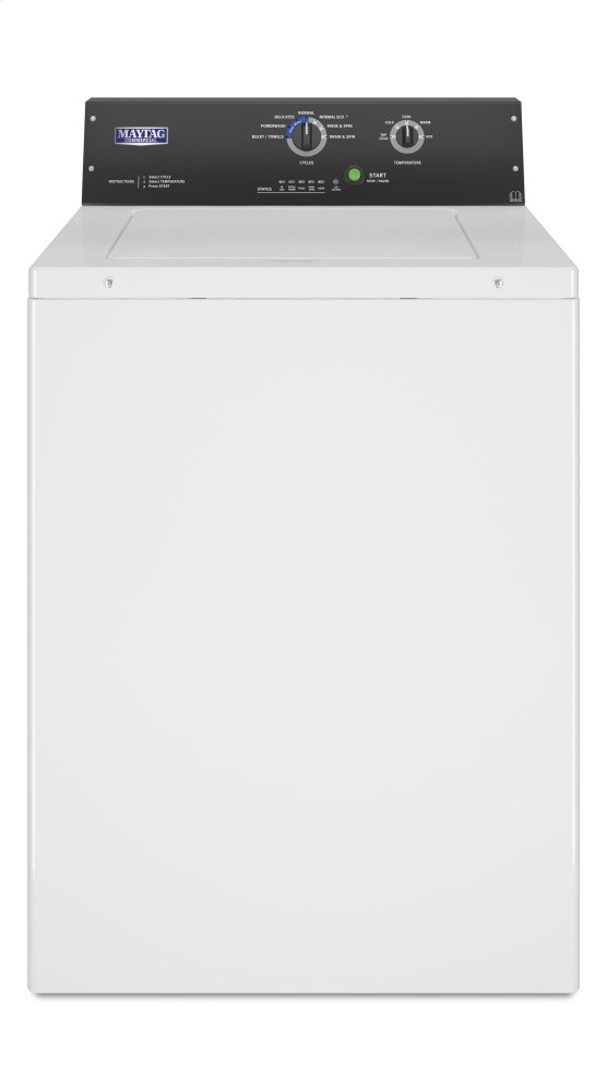 Commercial Top-Load Washer, Non-Coin  WHITE