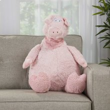 "Plushlines N1565 Pink 1'10"" X 2'2"" Plush Animals"