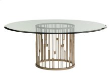 Rendezvous Round Dining Table With Glass Top 60 Inch