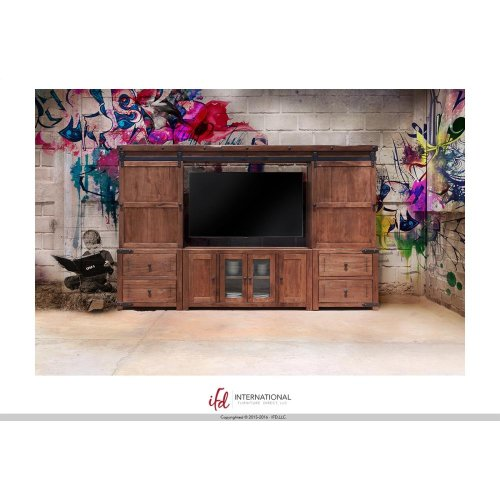 TV-Stand w/4 Doors + Bridge