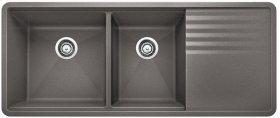 Blanco Precis Multilevel 1-3/4 Bowl With Drainer - Metallic Gray