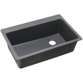 "Elkay Quartz Classic 33"" x 22"" x 9-1/2"", Single Bowl Top Mount Sink, Dusk Gray"