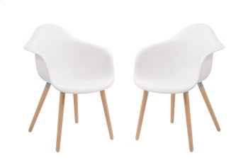 Emerald Home Annette Dining Chair White Seat Wood Legs D118chr-26wht Product Image