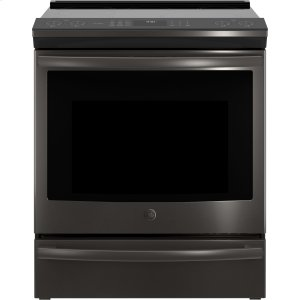 "GE ProfileSeries 30"" Slide-In Front Control Induction and Convection Range"
