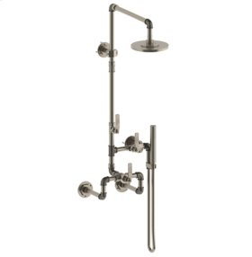 Wall Mounted Exposed Thermostatic Shower With Hand Shower Set
