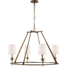 Visual Comfort S5315GI-NP Ian K. Fowler Etoile 4 Light 36 inch Gilded Iron Chandelier Ceiling Light