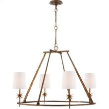 Visual Comfort S5315GI-NP Ian K. Fowler Etoile 4 Light 36 inch Gilded Iron Chandelier Ceiling Light