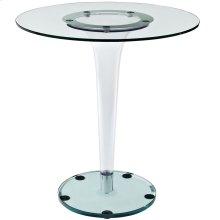 """Gossamer 27.5"""" Side Table in Clear"""