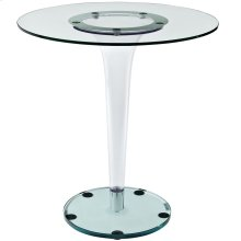 "Gossamer 27.5"" Side Table in Clear"