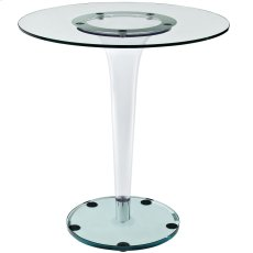 "Gossamer 27.5"" Side Table in Clear Product Image"