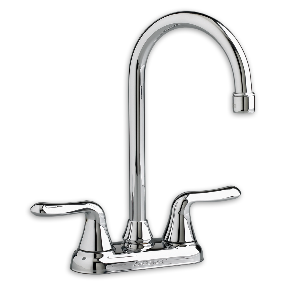 Colony Soft 2 Handle High Arc Bar Sink Faucet American Standard   Polished  Chrome