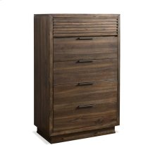 Modern Gatherings II Five Drawer Chest Brushed Acacia finish