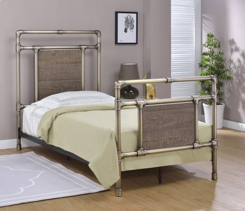 Elkton Headboard - Twin, Antique Brass Finish