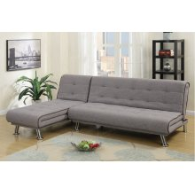 Modern Chaise Sectional Futon