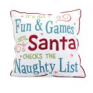 Whimsical Christmas Embroidered Pillow Product Image
