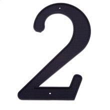 """Black 4"""" House Number """"2"""""""