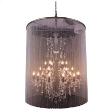 "1131 Brooklyn Collection Chandelier D:44.5"" H:55"" Lt:25 Dark Grey Finish (Royal Cut Crystals)"