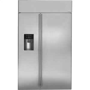 "MonogramMONOGRAMMonogram(R) 48"" Built-In Side-by-Side Refrigerator with Dispenser"