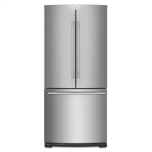 30-inch Wide Contemporary Handle French Door Refrigerator - 20 cu. ft. - FINGERPRINT RESISTANT STAINLESS STEEL