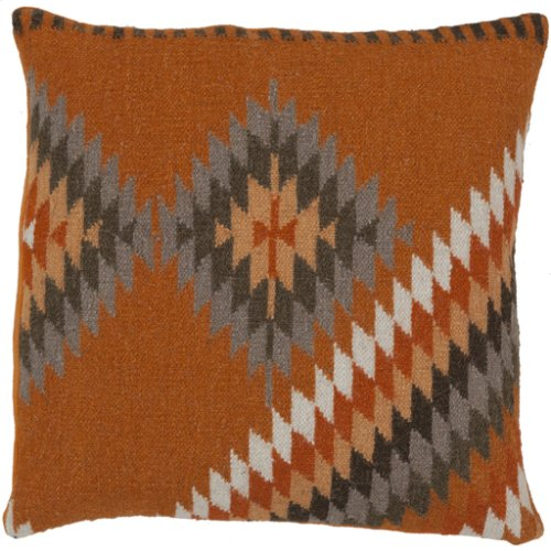 "Kilim LD-037 22"" x 22"" Pillow Shell with Down Insert"