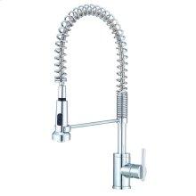 Chrome Parma® Pre-Rinse Single Handle Spring Spout Kitchen Faucet