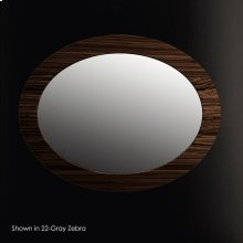 Wall-mounted mirror in wood frame,