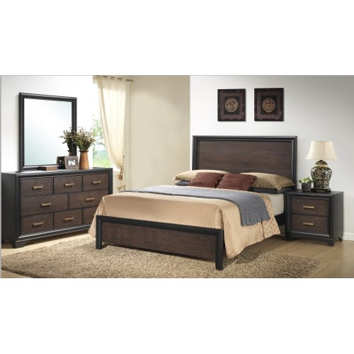 Emerald Home Prelude Cal King Panel Bed Kit Honey Black/brown B588-13-k