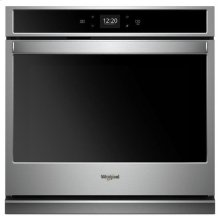Whirlpool® 4.3 cu. ft. Smart Single Wall Oven with Touchscreen - Stainless Steel