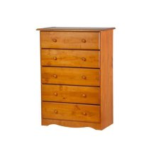 5-Drawer Chest, Honey Pine