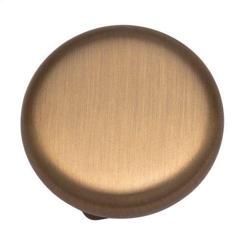 "1-3/8"" Diameter Forged Look Flat Bottom Cabinet Knob."