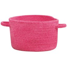 Hot Pink Chenille Creations Basket