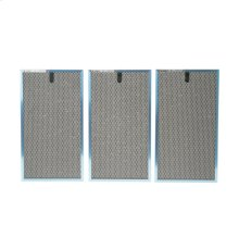 Charcoal odor and grease filters, set of 3