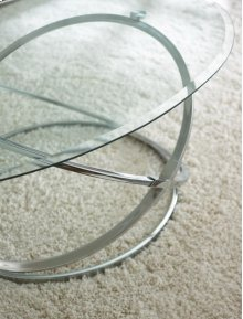"""Orion Tempered Glass Top C -48"""" x 32"""" E-26"""" Round 8mm"""